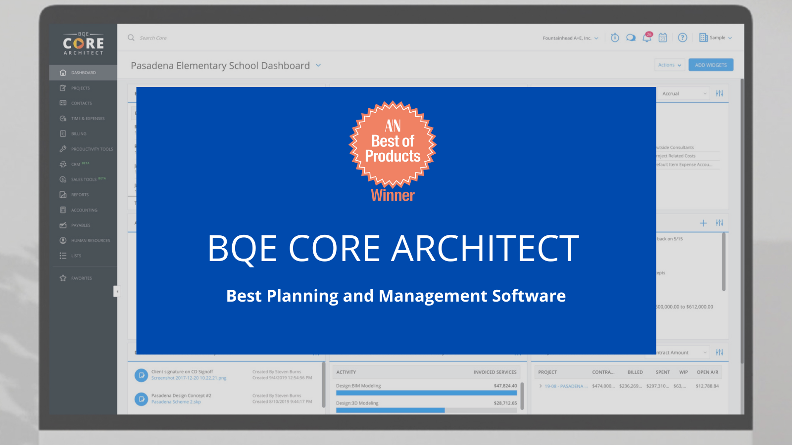 BQE CORE Selected Winner of The Architect's Newspaper 2020 Best of Products Awards